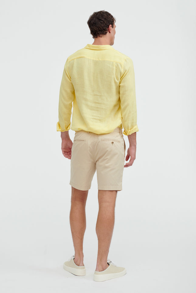 Square Tab Chino Short - Oat