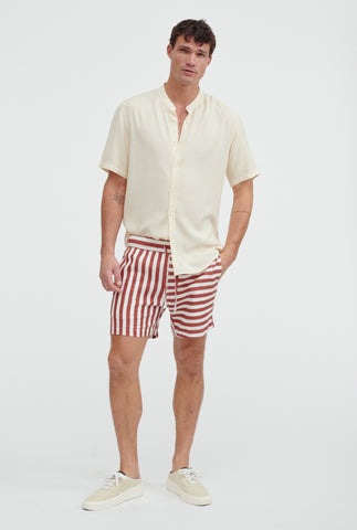 Lounge Short - Rust/White Stripe