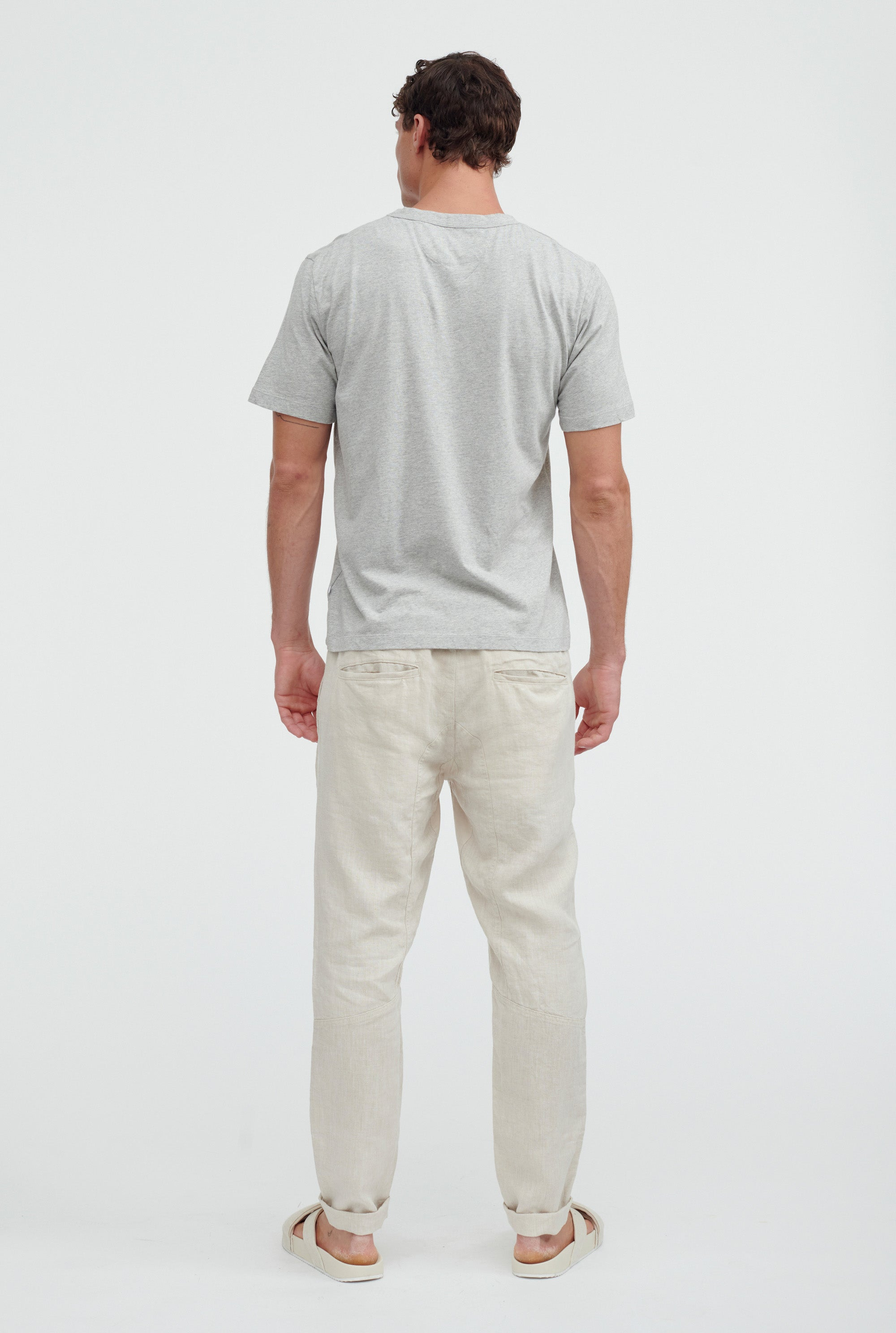 Light Weight Cotton T-Shirt - Grey Marle