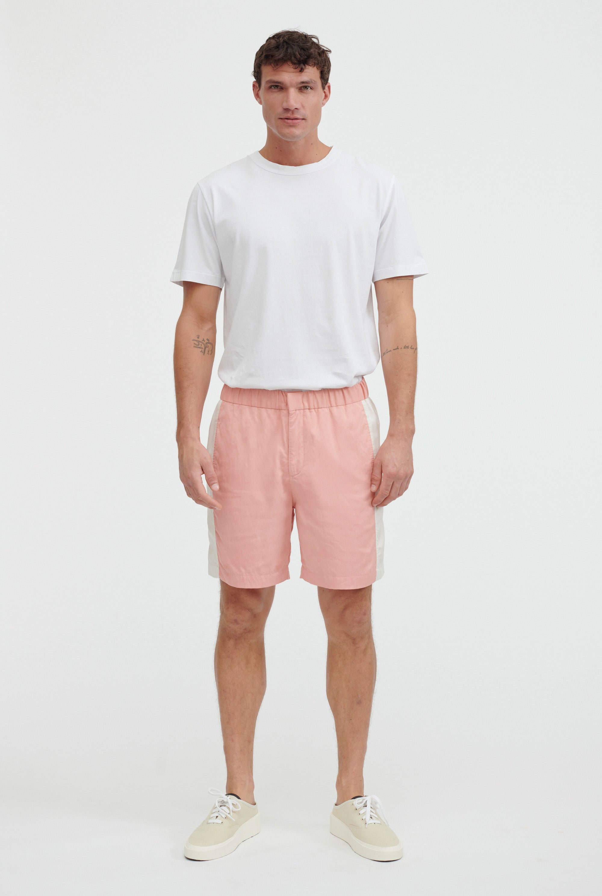 Side Panel Short - Melon/Stone Stripe