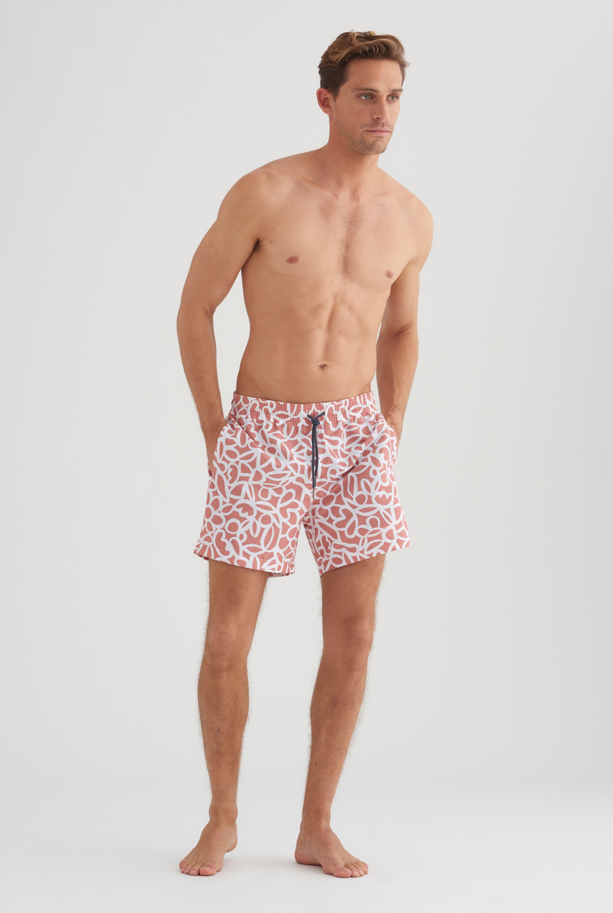 Swim Short - Biscuit Multi Print
