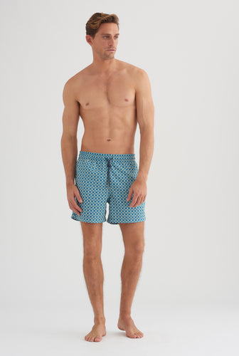 Swim Short - V Monogram Print