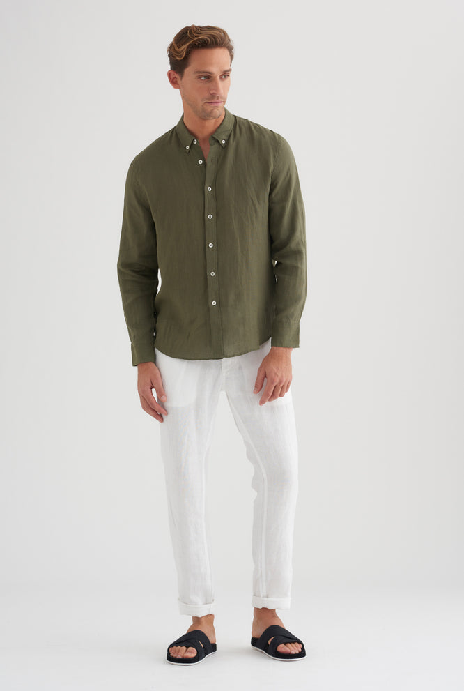 Linen Lounge Chino - Summer Stripe