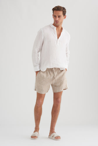 Lounge Short - Holiday/White Stripe