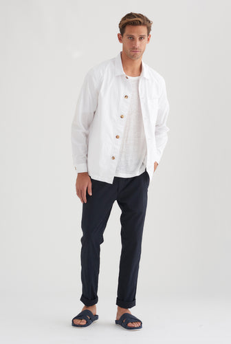 Poplin Overshirt - White