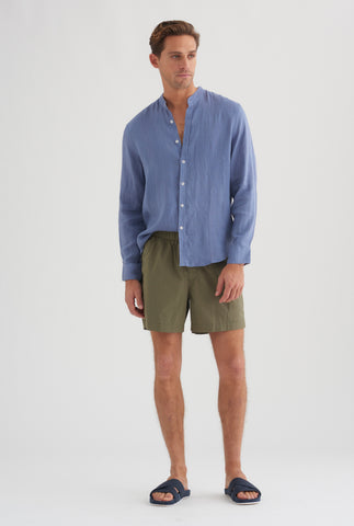 Poplin Lounge Short - Bottle Green