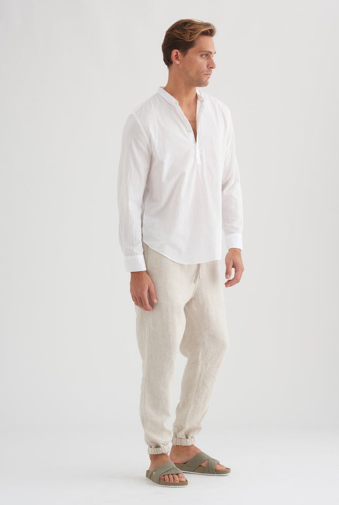Pop Over Poplin Shirt - White