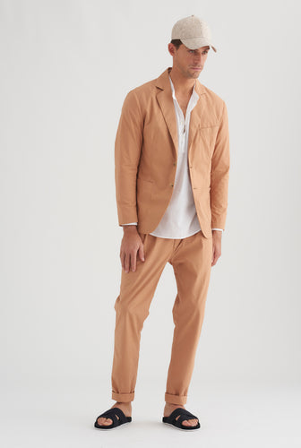 Poplin Unlined Blazer - Biscuit