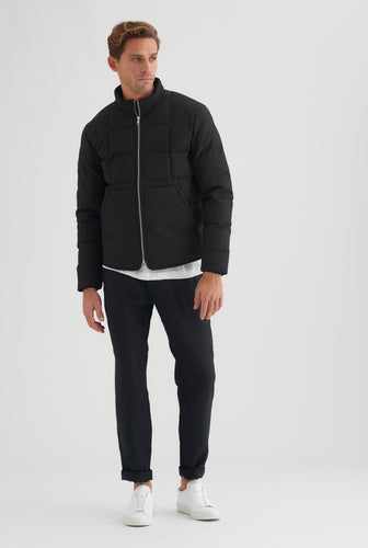 Square Down Jacket - Black