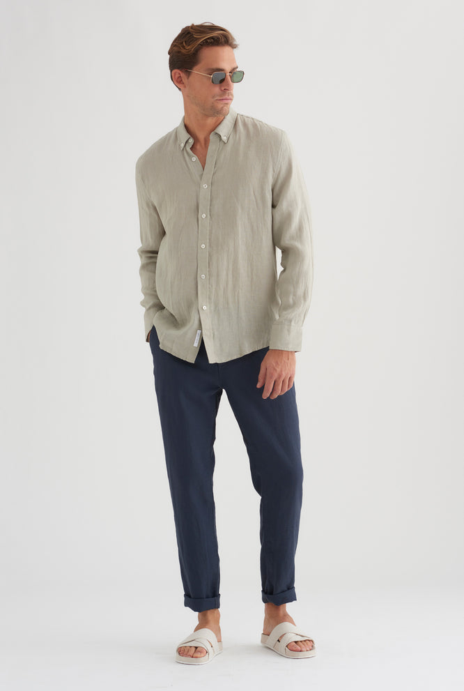 Linen Shirt - Tobacco