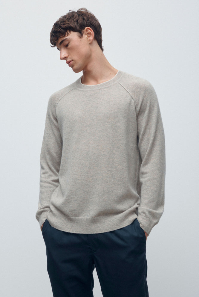 Exposed Seam Cashmere Sweater - Navy
