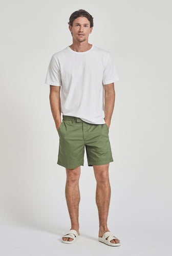 Square Tab Chino Short - Signature Green