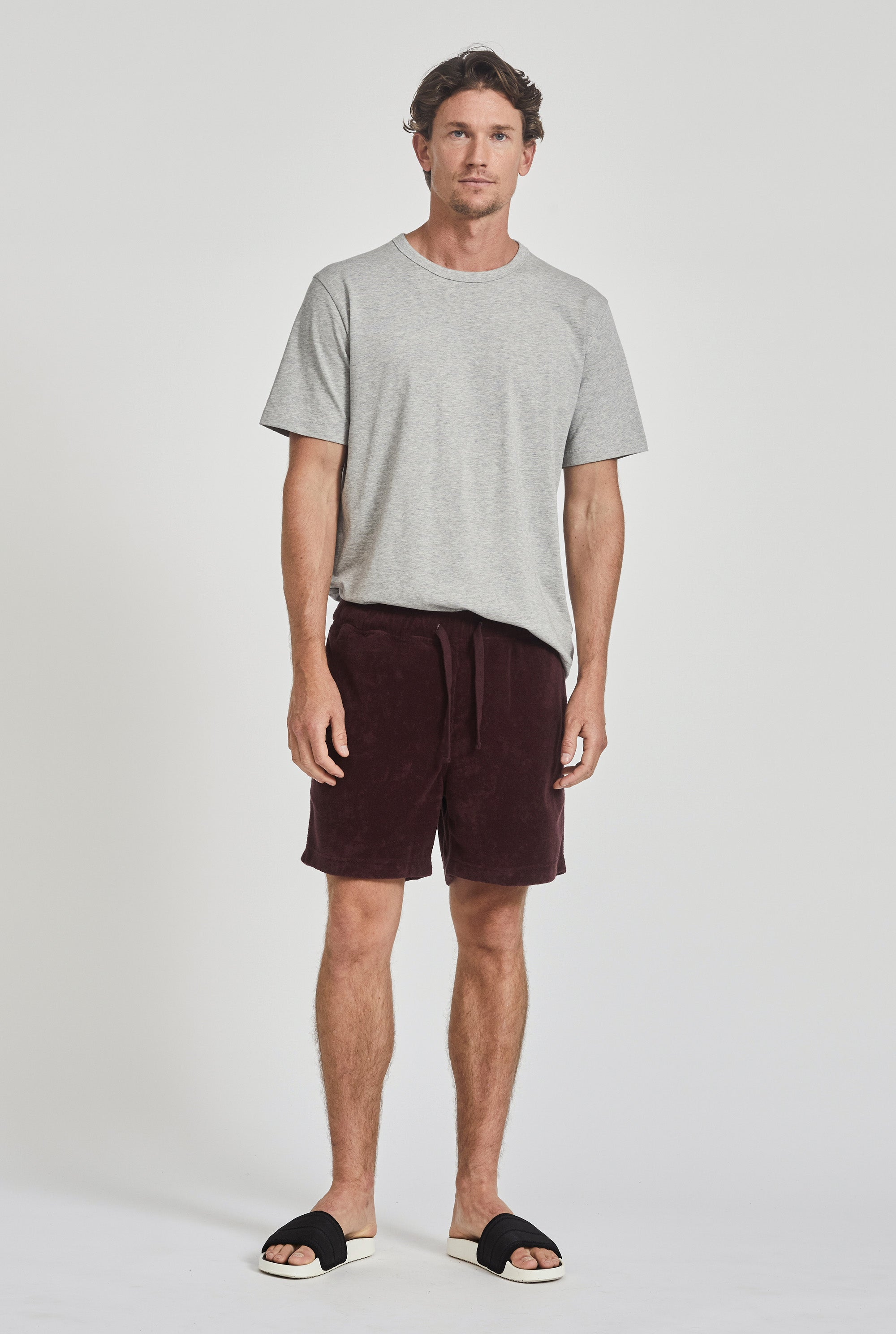 Terry Towel Short - Burgundy