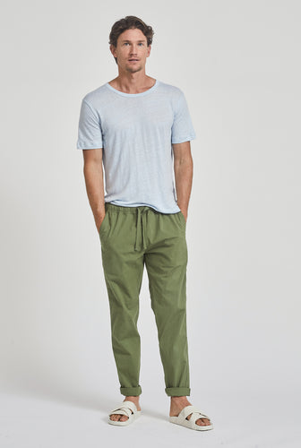 Cotton Stretch Pant - Signature Green