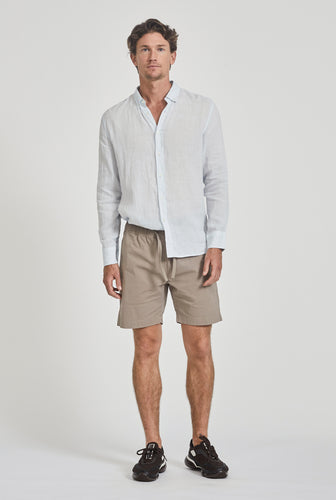 Cotton Stretch Short - Putty