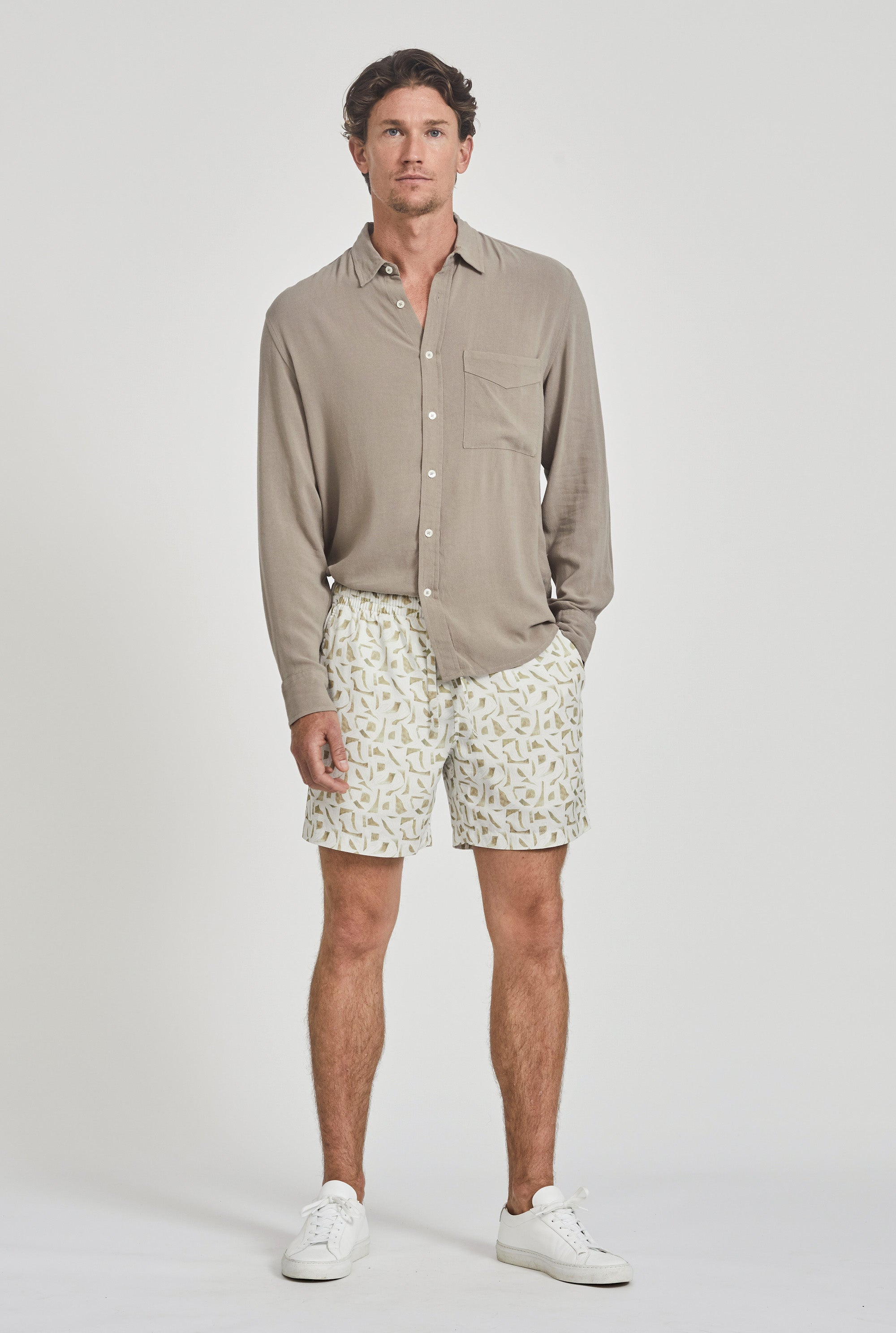 Tencel Lounge Short - Pool Print