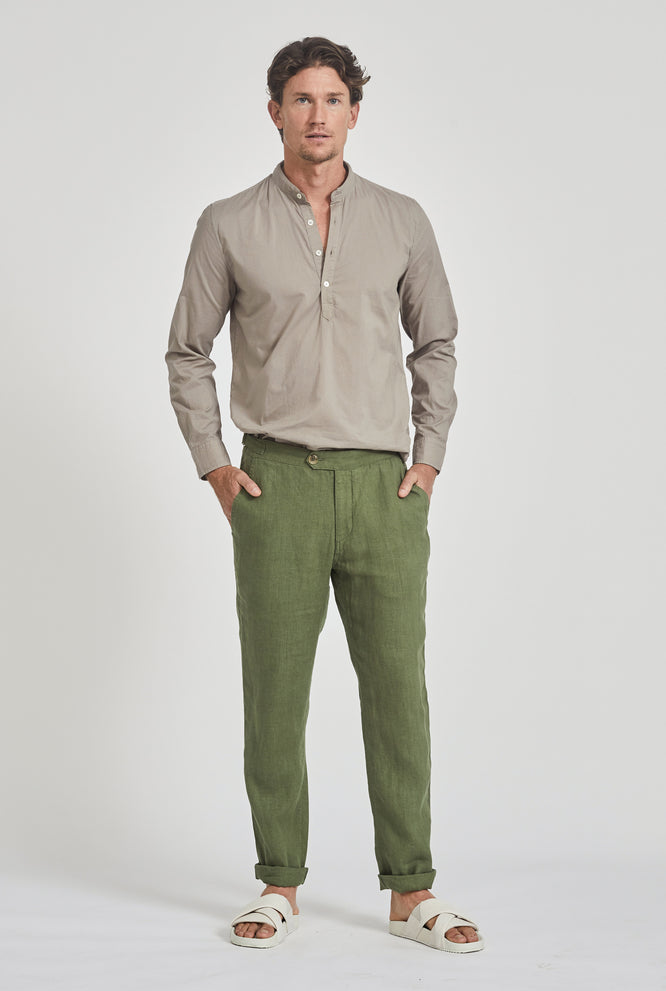 Side Tab Trouser - Sand
