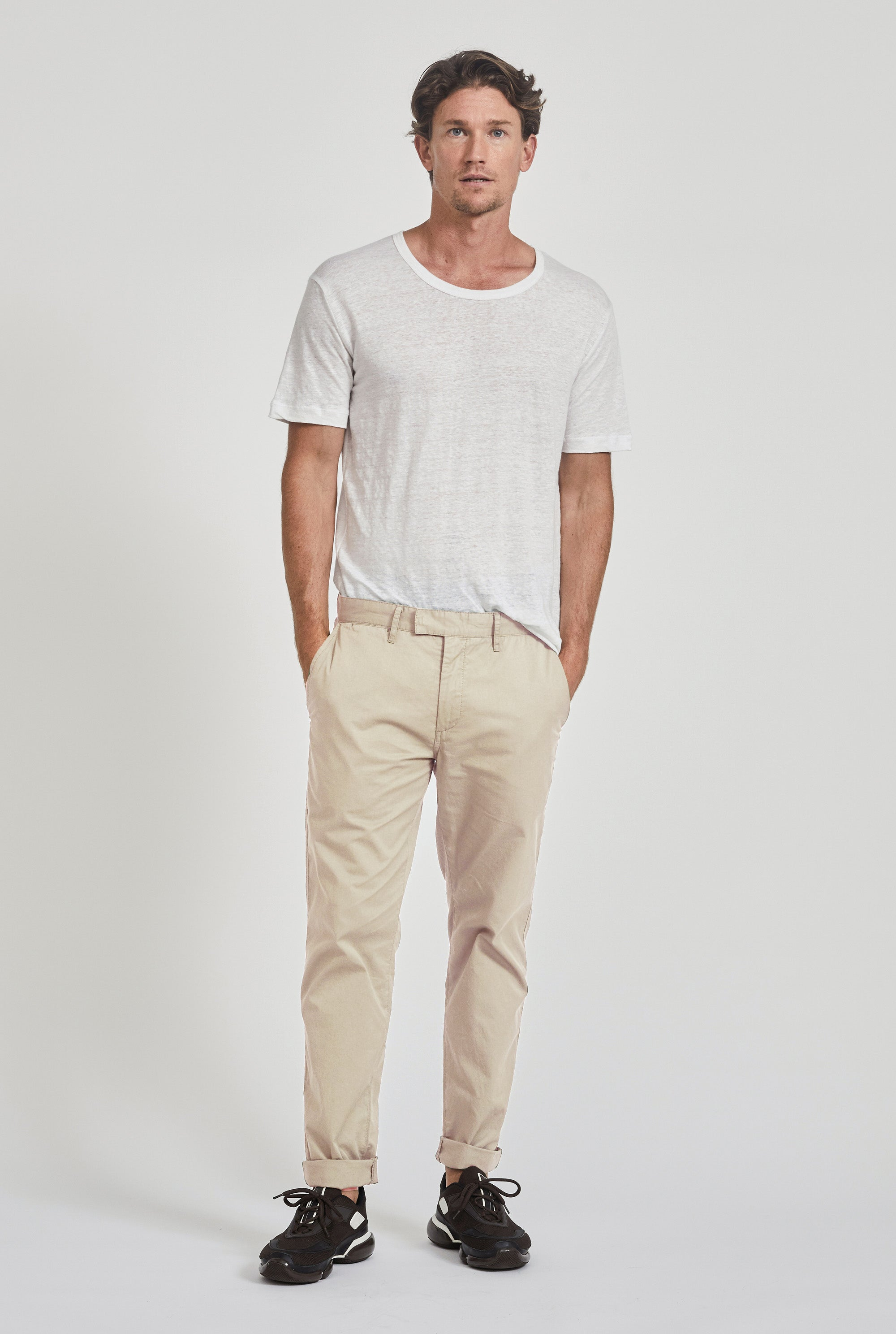 Square Tab Summer Chino - Oat