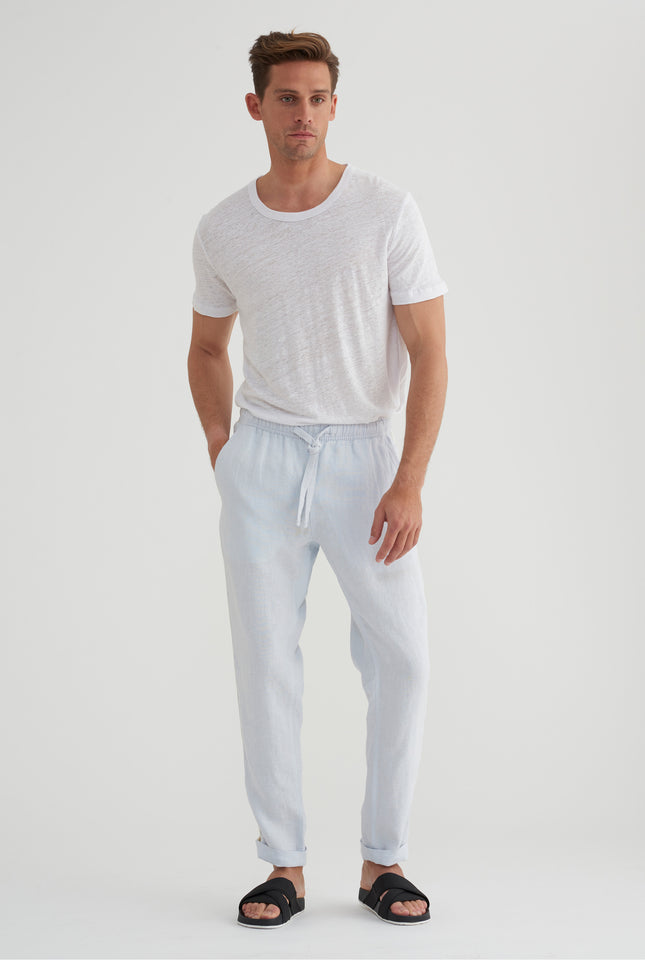 Tailored Lounge Pant - Light Blue