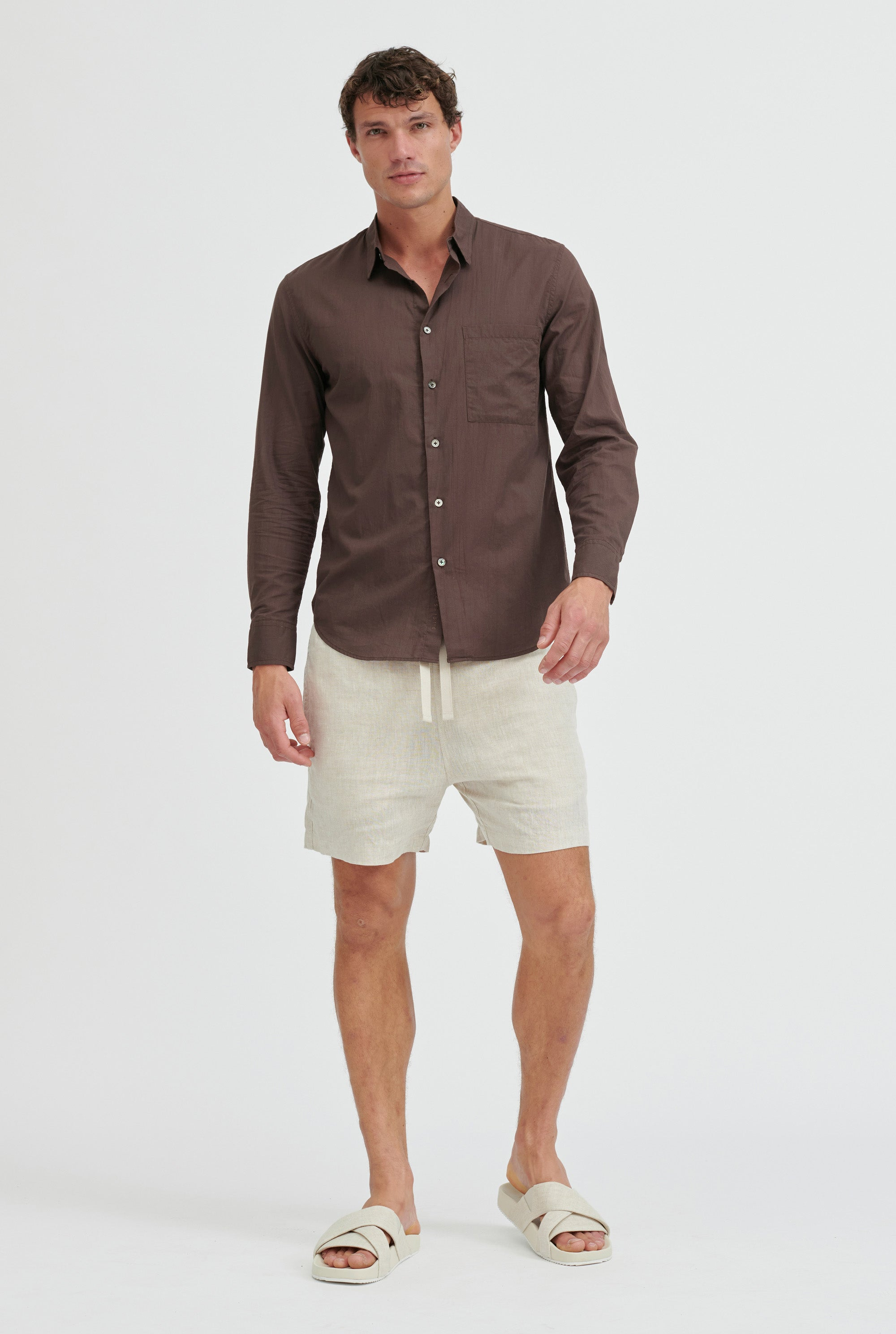 Cotton Voile Shirt - Cacao