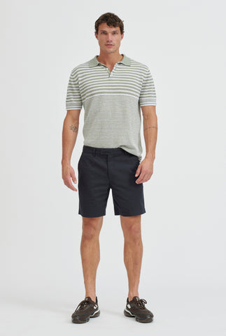 Square Tab Chino Short - Navy