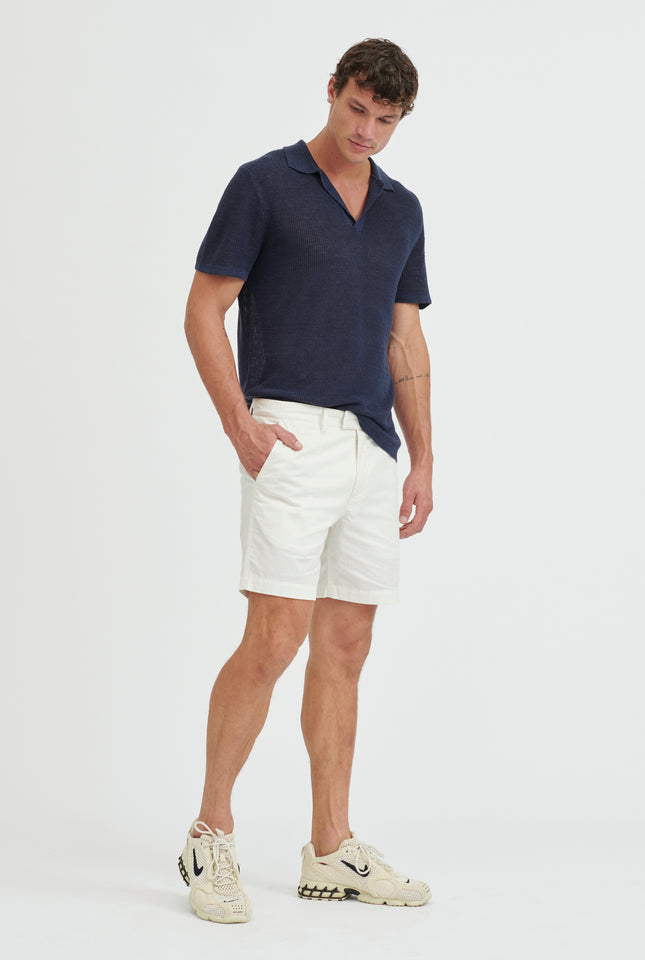 Square Tab Chino Short - Light Stone