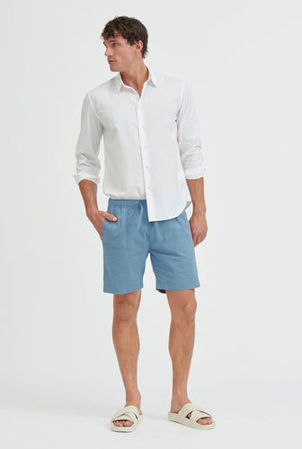 Cotton Stretch Short - Ocean Blue/Summer Tape