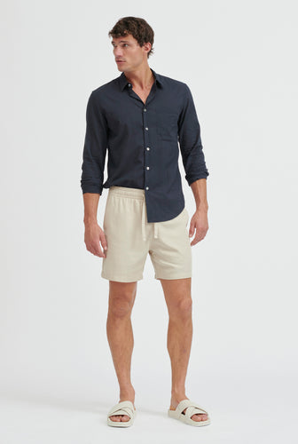 Tencel Lounge Short - Oat/Summer Tape