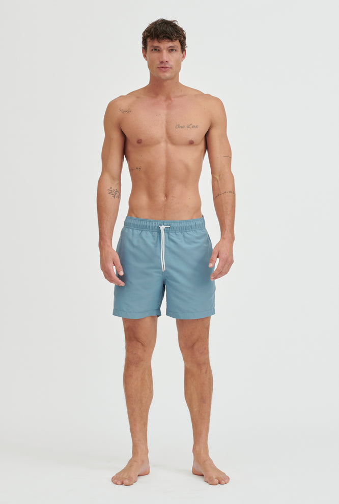 Swim Short - Oat/Navy Band