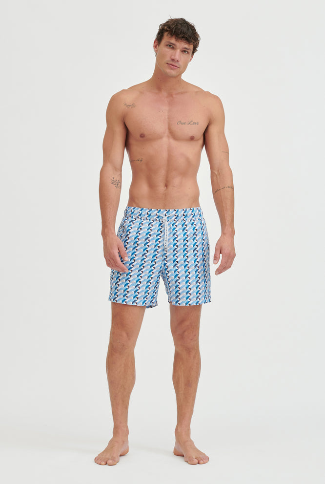 Printed Swim Short - Floral Print