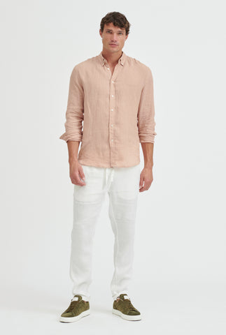Linen Shirt - Dusty Peach