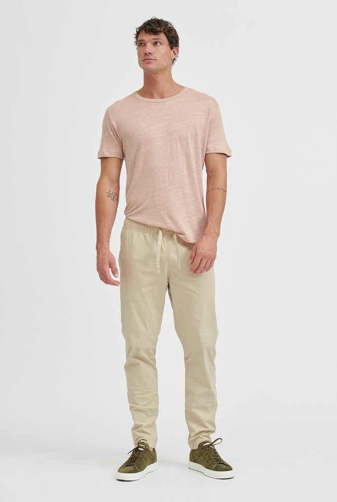Cotton Stretch Pant - Oat/Summer Tape