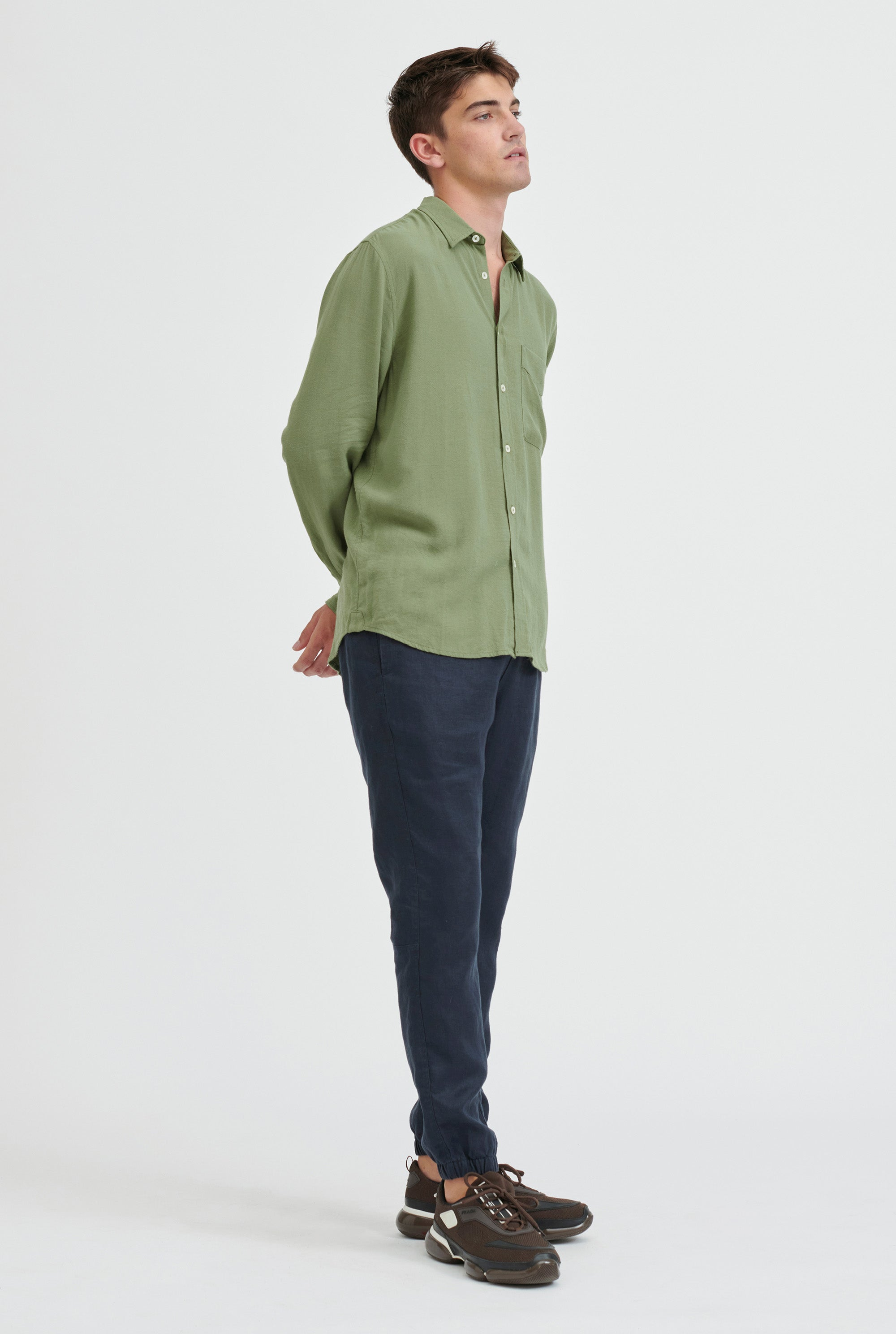 Tencel Shirt - Signature Green
