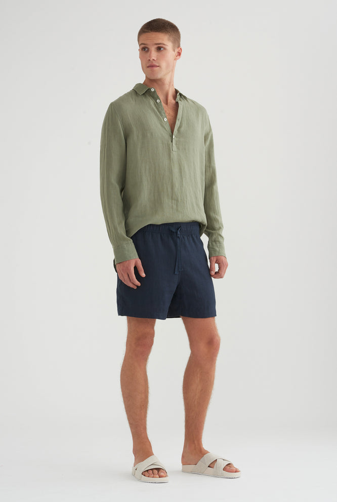 Cutaway Pop Over Shirt - Aspen Green