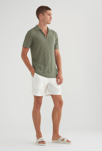 Knitted Polo - Aspen Green