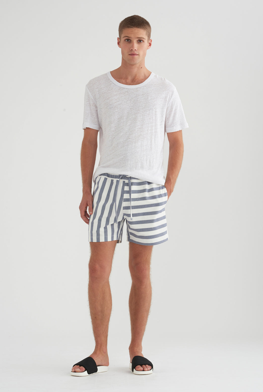 Lounge Short - Blue/White Stripe