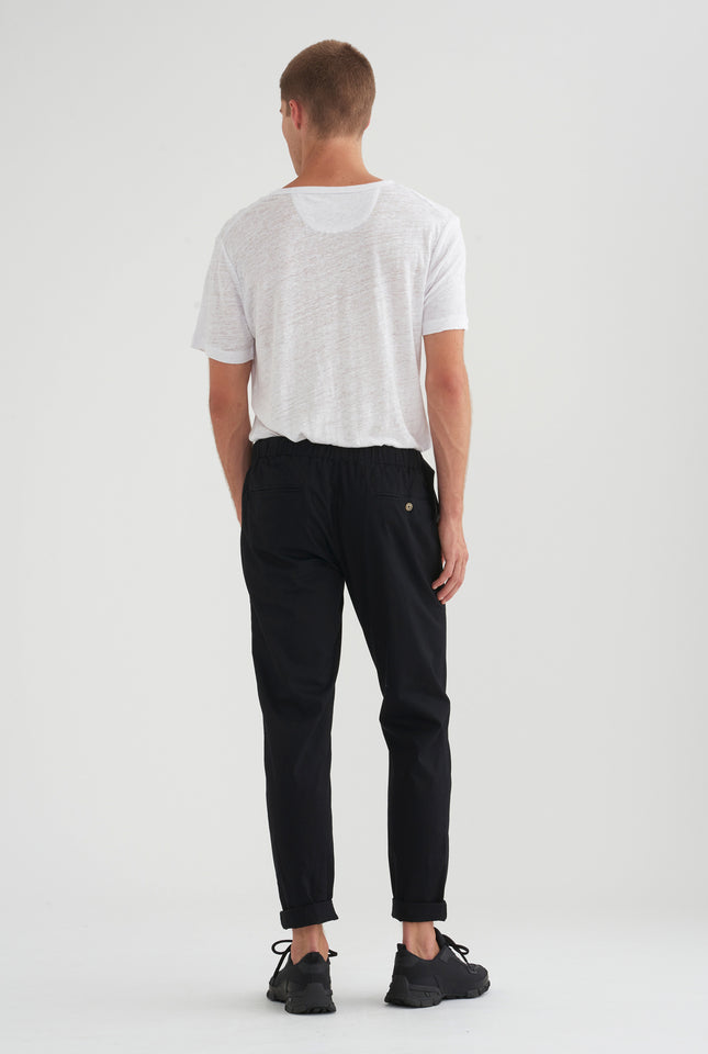 Pin Stitch Chino - Black