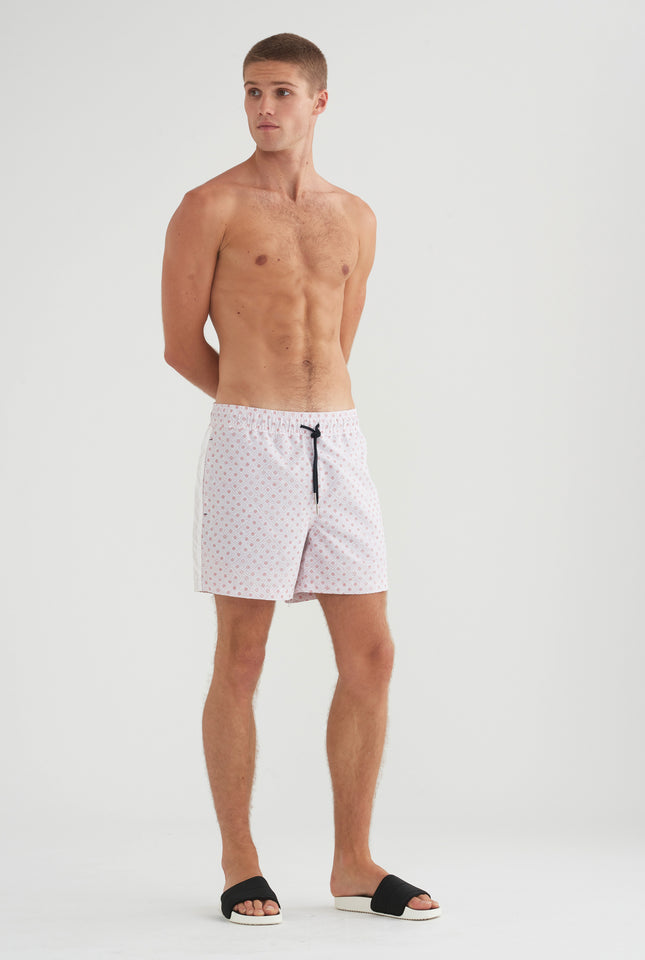 Swim Short - Pink Dot Print