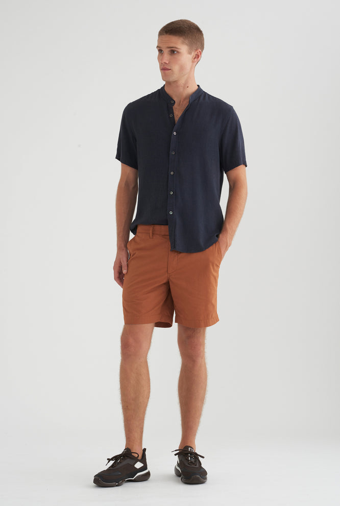 Square Tab Chino Short - Spring Blue