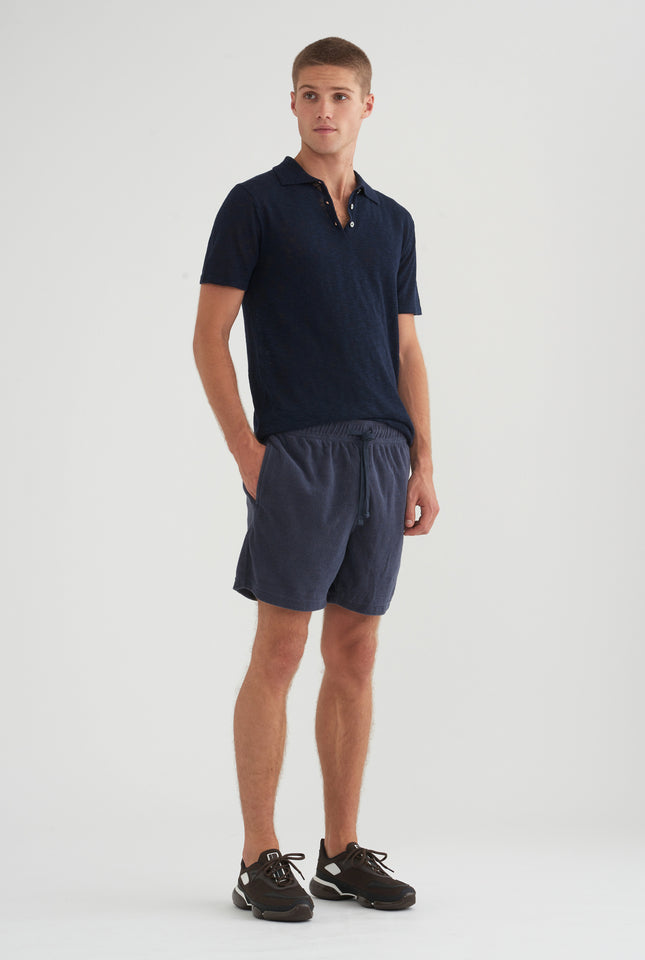 Knitted Polo - Navy
