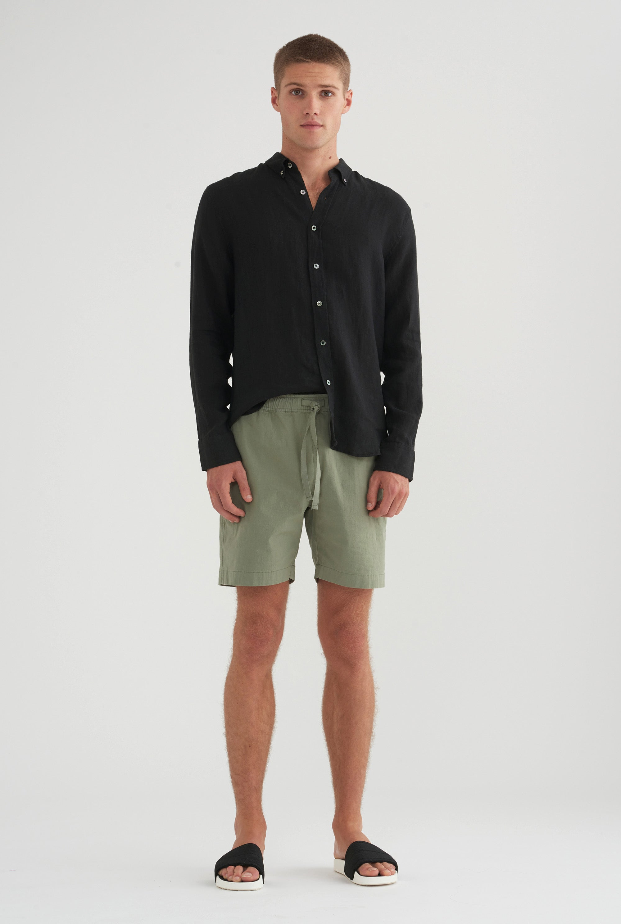 Cotton Stretch Short - Aspen Green