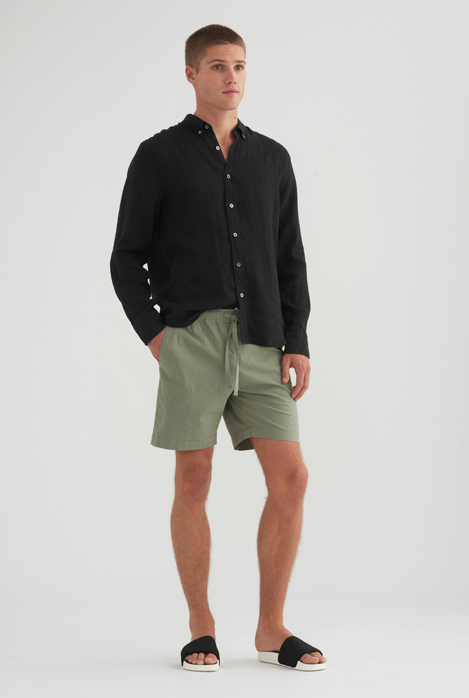 Cotton Stretch Short - Black