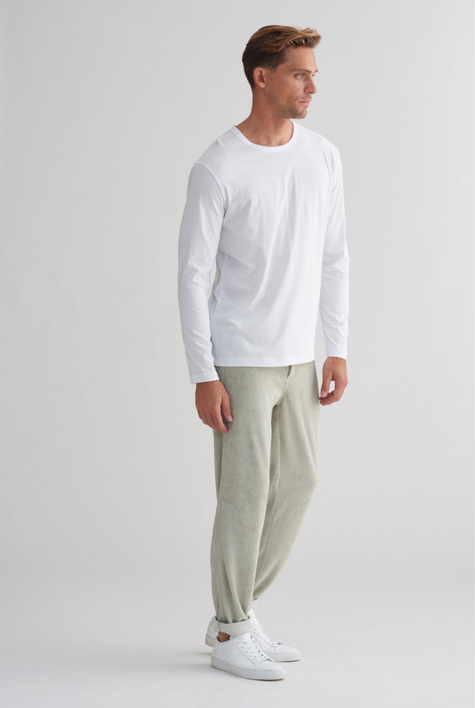 Pima Long Sleeve T-Shirt - White