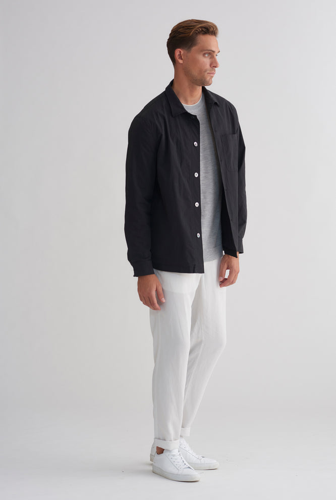 Lined Lightweight Jacket - Black