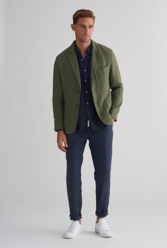 Unlined Blazer - Bottle Green