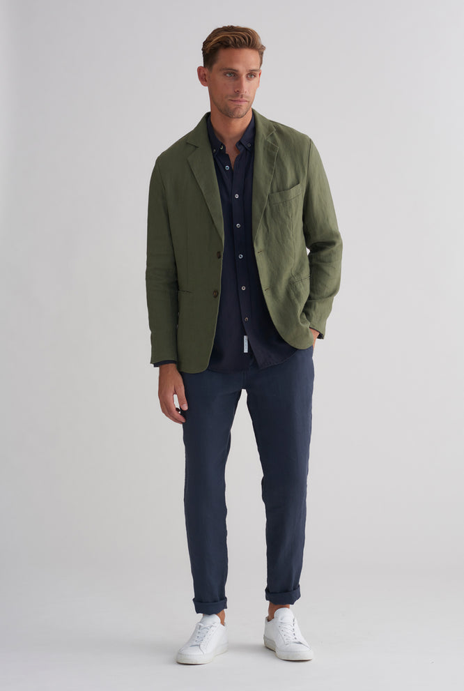 Unlined Tencel Blazer - Stone