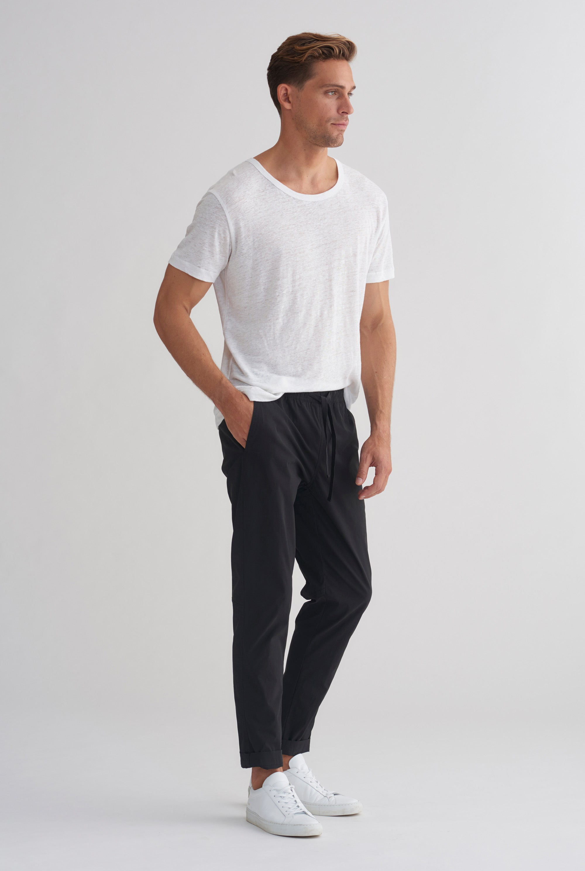 Cotton Stretch Pant - Black