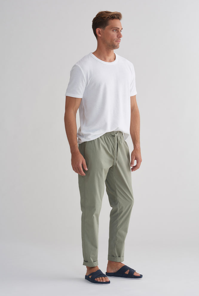 Cotton Stretch Pant - Sage