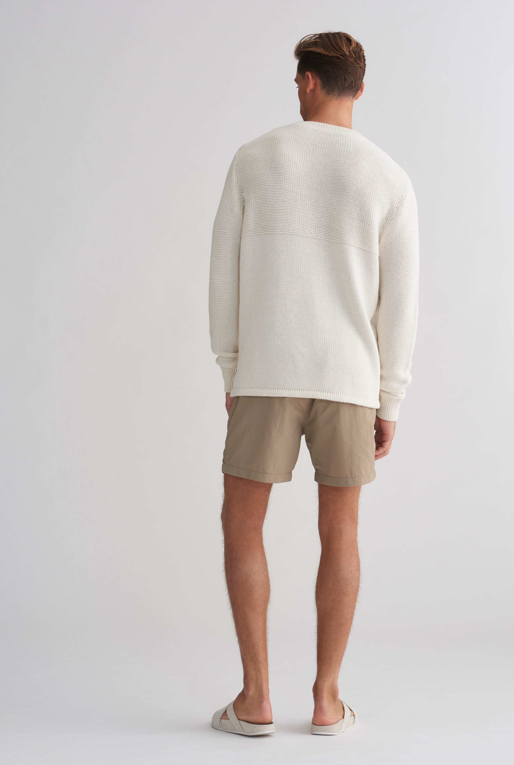 Wave Knit Sweater - Off White