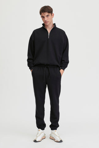 Unisex Track Zip Sweater - Black